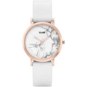 Cluse LaRochePetite Rose Gold White Marble/White CL40110