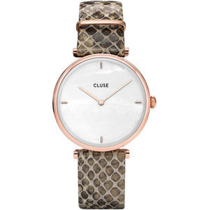 Cluse Triomphe Rose Gold White Pearl/Soft Almond Python CL61007