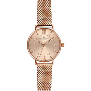 Frederic Graff Shispare Rose Gold Mesh Watch FCG-3914