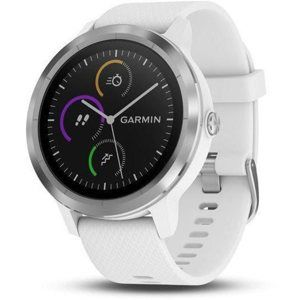 Garmin VivoActive3 Optic Silver/White band - SLEVA