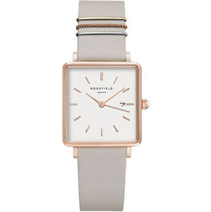 Rosefield The Boxy White Cool Grey Rose Gold QCGRG-Q028